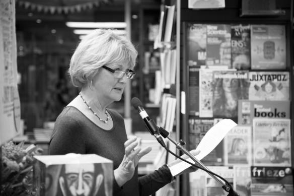 Barbara Larson, helping to launch Kate's book. Photo copyright Matt Bialostocki.